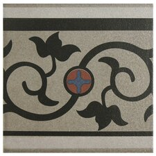 "Cementa 7"" x 7"" Ceramic Glazed Tile in And Cenefa"
