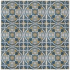 "Royalty Canarsie 17.75"" x 17.75"" Ceramic Field Tile in Multi"