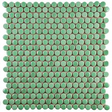 "Tucana 0.59"" x 0.59"" Porcelain Mosaic Tile in Green"