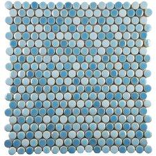 "Tucana 0.59"" x 0.59"" Porcelain Mosaic Tile in Oceano"