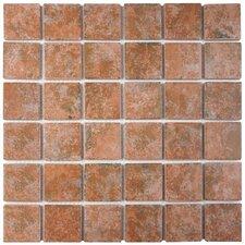 "Elbert 2"" x 2"" Porcelain Mosaic Tile in Quad Pueblo"