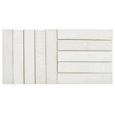 "Loggo 2"" x 10"" Porcelain Mosaic Tile in White"