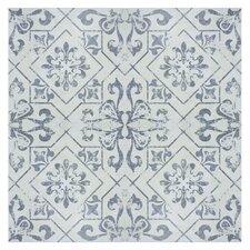 """Lotus 17.75"""" x 17.75"""" Ceramic Field Tile in Blue"""