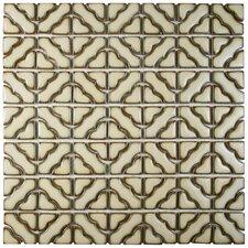 "Jericho 12.5"" x 12.5"" Porcelain Mosaic Tile in Beige"