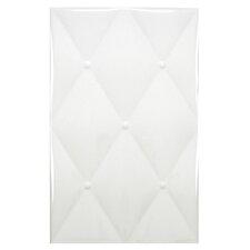 "Boudeur 15.75"" x 9.75"" Ceramic Fabric Look Tile in White"