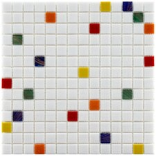 """Fused 0.75"""" x 0.75"""" Glass Mosaic Tile in Happy"""