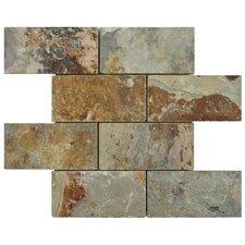 Peak 2.88'' x 5.88'' Natural Stone Mosaic Tile in Multi