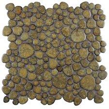 """Boulder 11"""" x 11"""" Porcelain Mosaic Tile in Brownstone"""