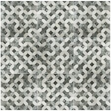 "Caprichos 17.75"" x 17.75"" Ceramic Field Tile in Marmol Gris"