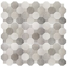"Imagino 17.75"" x 17.75"" Ceramic Field Tile in Cement"