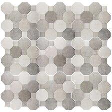 "Imagino 17.75"" x 17.75"" Ceramic Field Tile in Cement"