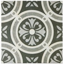 "Annata 9.5"" x 9.5"" Porcelain Field Tile in Classic"