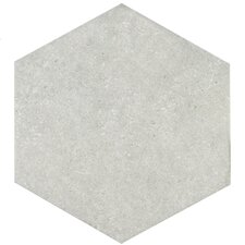 "Transit 9.88"" x 8.63"" Porcelain Floor and Wall Tile in Silver"