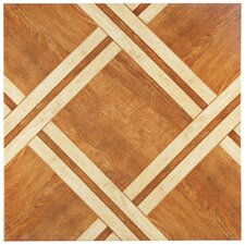 "Anchorage 17.75"" x 17.75"" Ceramic Wood Look Tile in Caramelo"