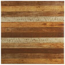 "Canadia 17.75"" x 17.75"" Ceramic Wood Look Tile in Natural"