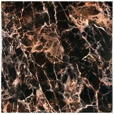 "Elypse 17.75"" x 17.75"" Ceramic Field Tile in Negro"
