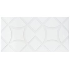 "Grenada 9.88"" x 19.63"" Ceramic Field Tile in Jet Blanco"