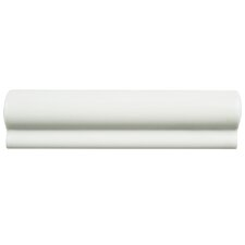 "Thira 2"" x 8"" Ceramic Chair Rail in Blanco"