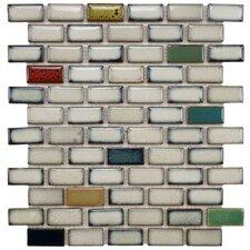 "Essentia 0.91"" x 1.89"" Porcelain Subway Mosaic Tile in Cascade"