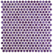 "Astraea 12"" x 12"" Porcelain Mosaic Tile in Purple"