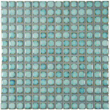 "Morgan .75"" x .75"" Porcelain Mosaic Tile in Marine"
