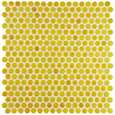"Astraea 12"" x 12"" Porcelain Mosaic Tile in Yellow"