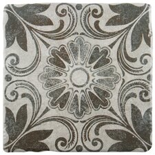 "Diego 7.75"" x 7.75"" Ceramic Field Tile in Cendra Décor Dahlia"