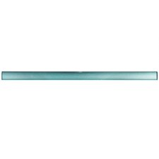"""Glastelle 11.75"""" x 0.63"""" Glass Over Porcelain Tile Trim in Pearl Baby Blue"""