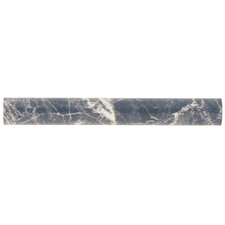 "Playa 8"" x 1"" Ceramic Liner Wall Trim Tile in Gray"