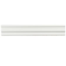 "Tivoli 12"" x 2"" Ceramic Chair Rail Tile Trim in White"