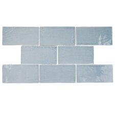 "Tivoli 3"" X 6"" Ceramic Subway Tile in Aqua"