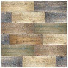 """Alcazar 23.63"""" x 7.88"""" Ceramic Field Tile in Brown"""