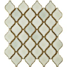 "Arabesque 1.87"" x 2.75"" Porcelain Mosaic Tile in Selene"