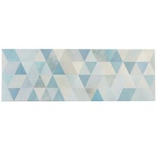 "Genetique 7.75"" x 23.5"" Ceramic Wall Tile in Blue"
