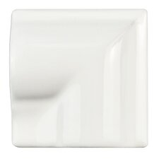 "Guadeloupe 2"" x 2"" Ceramic Moldura Corner Trim Wall Tile in Blanco (Set of 4)"