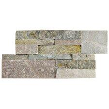 "Piedro 7"" X 13.5"" Natural Stone Splitface Tile in Brown"