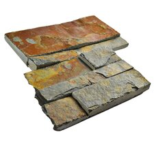 "Piedro 7"" x 7"" Slate Corner Tile Trim in Rusty"