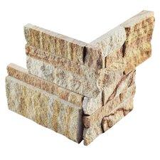 """Piedro 7"""" x 7"""" Natural Stone Corner Tile Trim in Sandstone"""