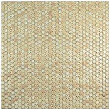 "Penny 0.8"" x 0.8"" Porcelain Mosaic Tile in Truffle"