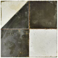 "Royalty 17.75"" x 17.75"" Ceramic Tile in Geos"