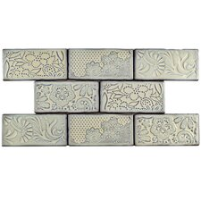 "Antiqua 3"" x 6"" Ceramic Tile in Feelings Pergamon"