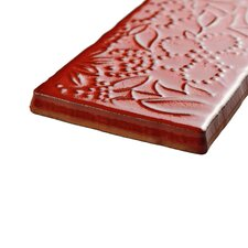 "Antiqua 3"" x 6"" Ceramic Tile in Feelings Red Moon"