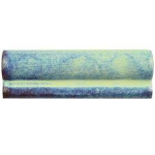 "Antiqua 6"" x 2 Ceramic Moldura Trim Accent Tile in Special Agua Marina (Set of 8)"