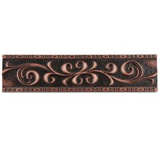 "Milton 12"" x 3"" Resin Liner Accent Tile in Scroll Venetian Bronze (Set of 5)"