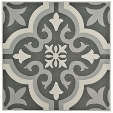 "Lima 7.75"" x 7.75"" Ceramic Field Tile in Black"