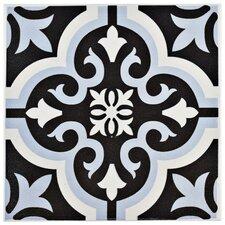 "Lima 7.75"" x 7.75"" Ceramic Field Tile in Blue"