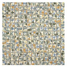 """Summer Flora 0.75"""" x 0.75"""" Porcelain Mosaic Floor and Wall Tile in Flower"""