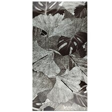 "Archaea 23.75"" x 11.75"" Panorama Glass Tile in Ginkgo Silver"