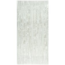 "Nautila 23.75"" x 11.75"" Panorama Glass Accent Tile in Pearl"