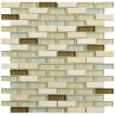 "Sierra 0.5"" x 1.875"" Glass and Natural Stone Mosaic Tile in York"